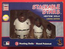 NEW YORK YANKEES Nesting Egg Dolls Vtg MLB Baseball Stackable Stars NEW NIB