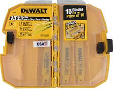 Dewalt DW4890 15 piece 6in Recip Sawzall Blades Metal/Wood Saw Blade Tough Case