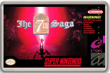 THE 7TH SAGA SUPER NINTENDO SNES FRIDGE MAGNET IMAN NEVERA
