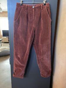 Princess Highway Corduroy Cord Pants Size 10 Rust