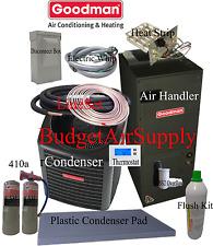 3.5 ton 16 SEER Goodman Heat Pump GSZ16042+ASPT47D+FLUSH+410a+50ft INSTALL KIT