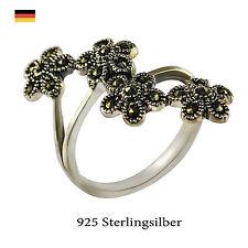 Beschichtete behandelter Echtschmuck-Ringe aus Sterlingsilber