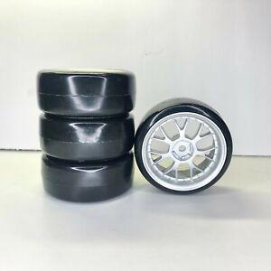 4pcs Hard Plastic 1/10 On Road RC Drift Car Drift Wheels 1.9in12mm Hex  (round)