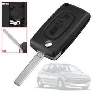 Telecomando 2 Tasti CE0536 VA2 Cover Guscio Chiave per Key Peugeot 307 308 407