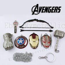 7pcs Set Super Hero The Avengers Weapon Sword Metal Pendant Cosplay Nb Silver#02