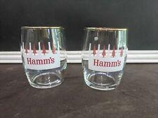 Vintage Hamm's Beer Red Tree Beer Glasses Rare