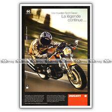 PUB DUCATI 1000 SPORT CLASSIC - Original Advert / Publicité Moto 2005