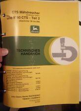 John Deere Mähdrescher 9780 CTS Werkstatthandbuch
