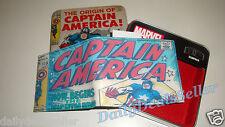 MARVEL COMICS CAPTAIN AMERICA MEN'S WALLET SLIMFOLD COLLECTIBLE PASSCASE