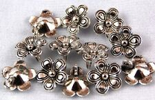 25 Flower Tibetan Zinc Alloy Lead Free Loose Beads Charms Jewelry Making Craft
