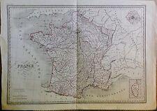 FRANCE / FRANKREICH - orig grenz-color.Kupferstich um 1820 von THIERRY