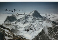 EVEREST EXPEDITION Multi Signed 12x8 Photo SIR EDMUND HILLARY COA