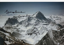 EVEREST EXPEDITION Multi Signed 12x8 Photo SIR EDMUND HILLARY COA