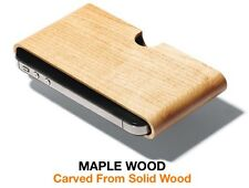 IPHONE 5/5S SE IWOODEN SOLID MAPLE WOOD POUCH GENUINE ULTIMATE PROTECTION COVER