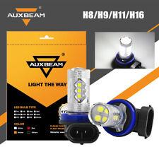 AUXBEAM H11 H16 H8 50W LED Fog Driving Light 6000K Super Bright Bulb DRL White