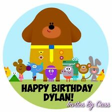 HEY DUGGEE ROUND 7 INCH EDIBLE IMAGE CAKE TOPPER BIRTHDAY PARTY KIDS