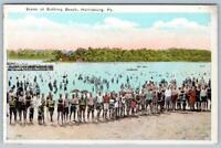 HARRISBURG PENNSYLVANIA*PA*SCENE AT BATHING BEACH*J HOFFMAN VINTAGE POSTCARD