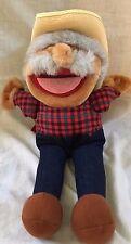 Hee Haw Plush doll shotgun red w/ straw hat flannel shirt Creative Marketing Co