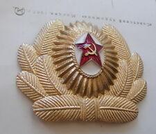 INSIGNE / COCARDE POUR CHAPKA OU CASQUETTE AVIATION MARTEAU ET FAUCILLE URSS