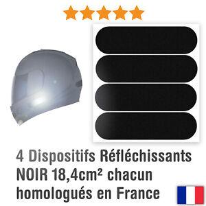 4 Autocollants Réfléchissants pour casque moto: Standard Homologation Française