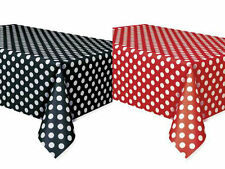 2 Mickey Minnie Mouse Polka Dot Table Covers Birthday Party Red & Black