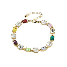 Charm Colorful Tennis Link Bracelets Crystal for Women New Costume Cheap Jewelry