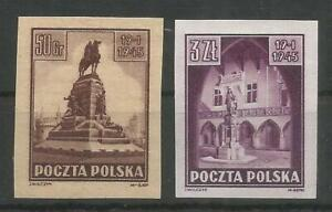 POLAND, TWO PROOFS MNH, SIGNED