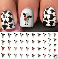 Cow Nail Art Waterslide Decals -Salon Quality!