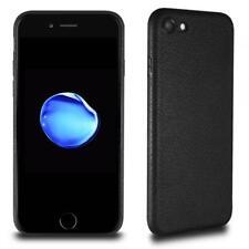 ULTRA SLIM Case für iPhone 8 Plus Leder Optik Silikon Hülle Schutzhülle TPU Dünn