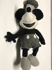Disney Store STEAMBOAT WILLIE Mickey Mouse Stuffed Plush USED
