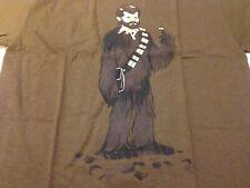 Star Wars George Lucas as Chewbacha Small Brown T-Shirt NEW! non blu-ray/dvd art