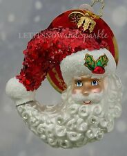 Christopher Radko *New* Little Gem Bella Luna! Santa Christmas Ornament 1019726