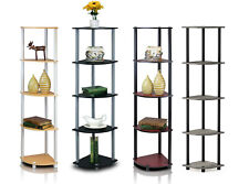 Furinno 5 Tier Shelves Corner Display Rack Multipurpose Shelving Unit