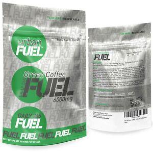 Urban Fuel Green Coffee 6000mg Fat Burning Weight loss Slimming Pills - 60 Caps