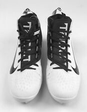 New Nike Force Zoom Trout 5 Football Cleat Men's US Size 11 White Black AH3373