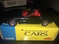 A Century Of Cars Corgi Solido Chevrolet Corvette 1/43 Car