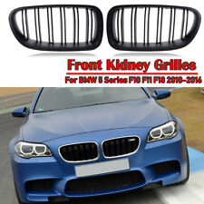 Matte Black For 10-16 BMW F10 F11 F18 5 Series M Sport Front Kidney Grille Grill