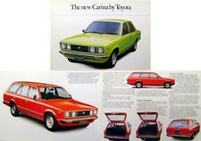 Toyota Carina 1600 Saloon & Estate original UK Sales Brochure circa 1978-79