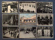 OLYMPIA 1936 - BAND I - KONVOLUT 9 SAMMELBILDER 12 x 17 CM SAMMELWERK NR. 13