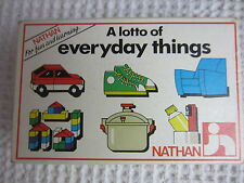e6faadf7861 1986 Jeux Nathan Toys France A Lotto of Everyday Things matching cards age  3-8