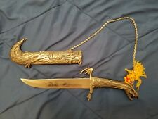 Fantasy Dragon Dagger with Sheath and Chain.
