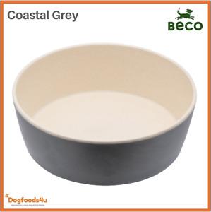 Beco eco biodegradable dog bowl - Large Coastal Grey - Natural