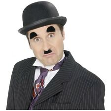 Charlie Chaplin Mustache & Eyebrows Adult Mens 20s Halloween Costume Fancy Dress