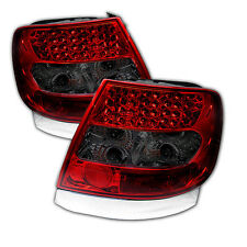 Pair LED Tail Lights Lamps Audi A4 1996-2001 Red Smoke Lens 1 Year Warranty