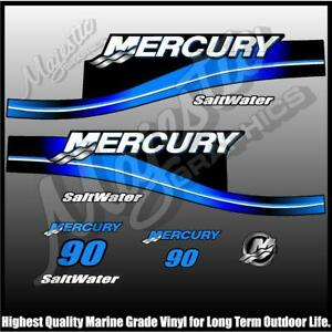 MERCURY 90hp - SALTWATER - DECAL SET - OUTBOARD DECALS