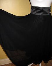 Malisy Black Chiffon Skirt, UK 6/8