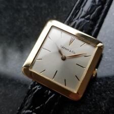 TIFFANY & CO. Men's Midsize 18K Solid Gold 21J Hand-Wind, c.1960s Swiss LV360