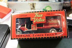True Value - 1919 GMC Tanker Truck Bank (1:30) in Original Box