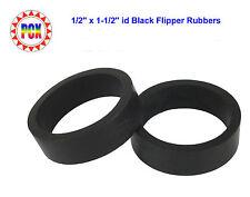 "Two Standard Size 1/2"" x 1-1/2"" id Black Flipper Rubbers (for 3"" flipper bat)"