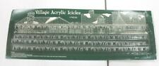 """Village Collectable Houses Miniature Mini Acrylic Icicles 4 Strips, each is 18"""""""